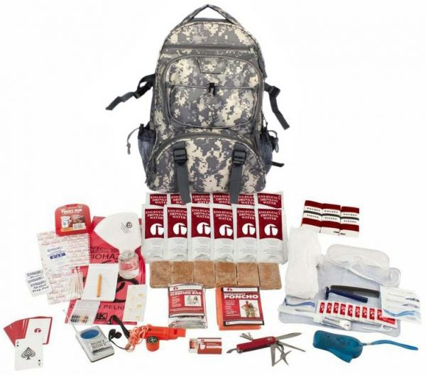 1 Person Deluxe Survival Kit 72 Hours with Camouflage Backpack