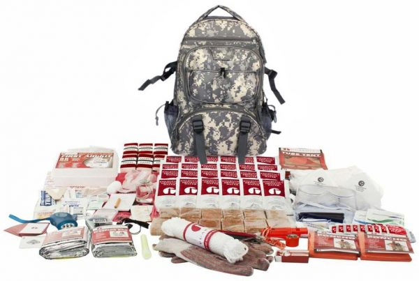 2 Person Elite Survival Kit 72 Hours with Camouflage Backpack