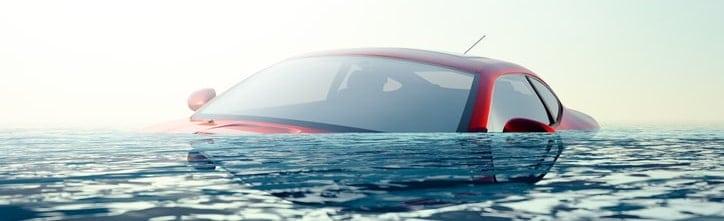 sinking car escape