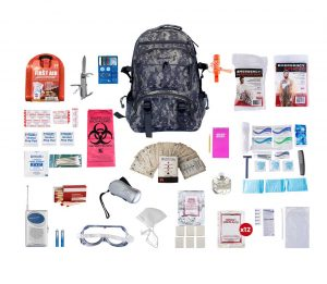 1 Person Deluxe Survival Kit 72 Hours with Camouflage Backpack skxk