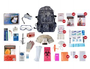2 Person Elite Survival Kit With Camouflage Backpack